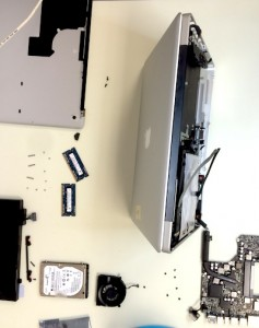 MacbookPro internal components let to dry